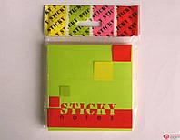 Мандарин Стикеры Bourgeois 76 * 76мм / 100 листов ассорти неоновые цвета арт.Б170