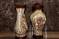 Керамическая ваза с лепкой