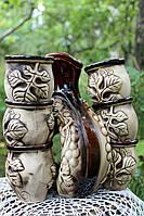 Красивый винный набор из керамики