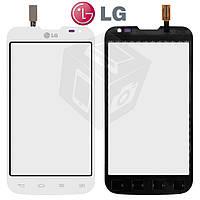 Touchscreen (сенсорный экран) для LG Optimus L70 D325 Dual SIM, оригинальный (белый)