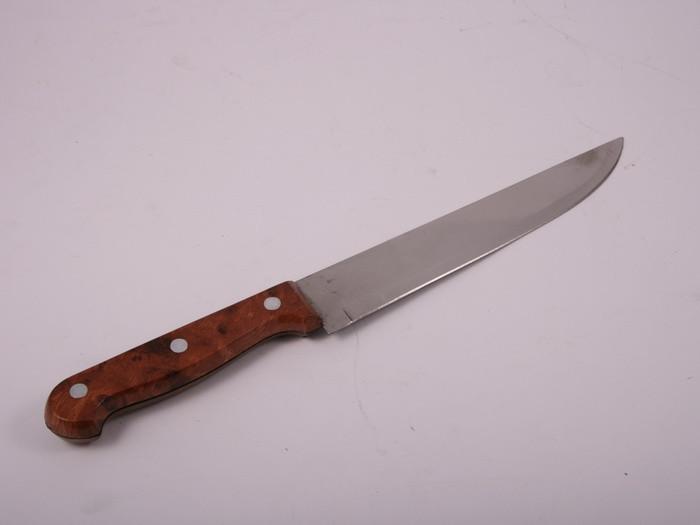 Нож металлический кухонный 20 см (коричневый) 3-70