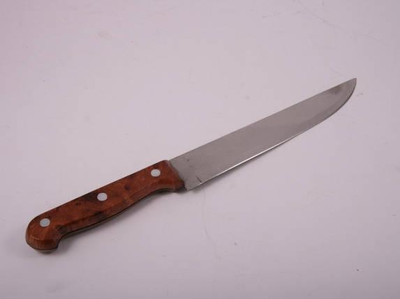 Нож металлический кухонный 20 см (коричневый) 3-70, фото 2