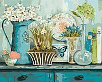 Картина по цифрам Идейка Прованский натюрморт худ Уайт Кэтрин (KH2932) 40 х 50 см