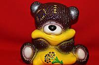 Мишка-копилка из керамики