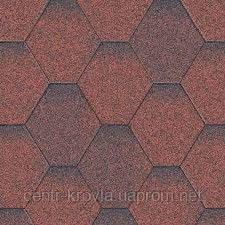 Битумная черепица Aquaizol Мозаика 320х1000 мм Красная микс Винница