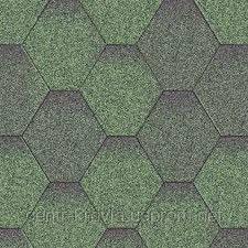 Битумная черепица Aquaizol Мозаика 320х1000 мм Зеленая микс Винница
