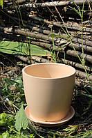 Цветочный горшок карамельный глянец 0,5 л.
