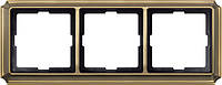 Рамка 3- пост. Merten Antique Античная Латунь MTN483343