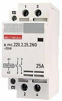 Модульный контактор e.mc.220.2.25.2NO 2р 25А 2NO 220 В