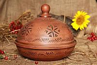 Блинница из красной глины (лепка)