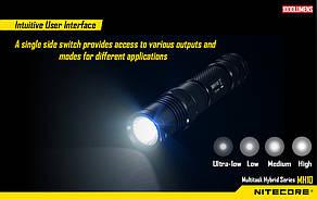 Карманный фонарь Nitecore MH10 (Сree XM-L2 U2, 1000 люмен, 7 режимов, 1х18650, USB), фото 2