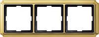Рамка 3- пост. Merten Antique Блестящая Латунь MTN483321