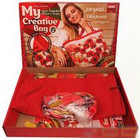 "Набор для творчества вышивка лентами и гладью ""Моя креативная сумка, Астры"" Danko Toys"