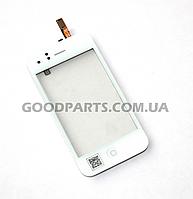 Сенсорный экран (тачскрин) с рамкой и кнопкой Нome, динамиком, датчиком для iPhone 3 белый