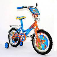 Детский двухколесный велосипед Самолётики, 16 дюймов, 141602 KK