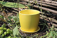 Цветочный горшок «Осень» желтый перламутр