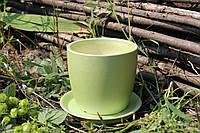 Цветочный горшок «Осень» мятный перламутр, 1 литр