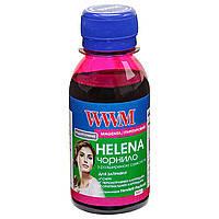 Чернила WWM HELENA для HP 100г Magenta Водорастворимые (HU/C) с расширенной совместимостью