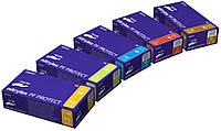 Перчатки нитриловые защитные, не опудренные, одноразовые (упак./100 пар/200шт) Нитрилекс ПФ Протект., фото 1