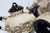 Чайный набор с листиками (резной рисунок)