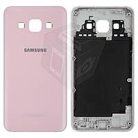 Задняя панель корпуса Samsung Galaxy A3 A300F / A300H / A300FU, оригинал, розовый