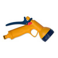 Пистолет-распылитель пластиковый Verano, 6-позиционный, с фиксатором потока