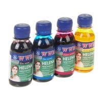 Комплект чернил WWM HELENA для HP (4 х 100г) B/C/M/Y Водорастворимые (4шт х 100г) Yellow, Magenta, Cyan, Black