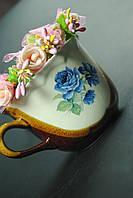 Чашка с голубой розой