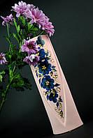Стильная ваза расписаная цветами