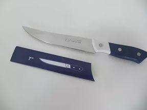 Нож кухонный металлический 26 см (бело-синий)