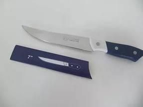 Нож кухонный металлический 26 см (бело-синий), фото 2