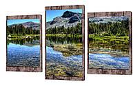 Модульная картина 210 горное озеро