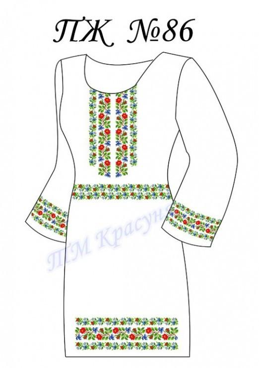 Заготовка платья-вышиванки ПЖ-86