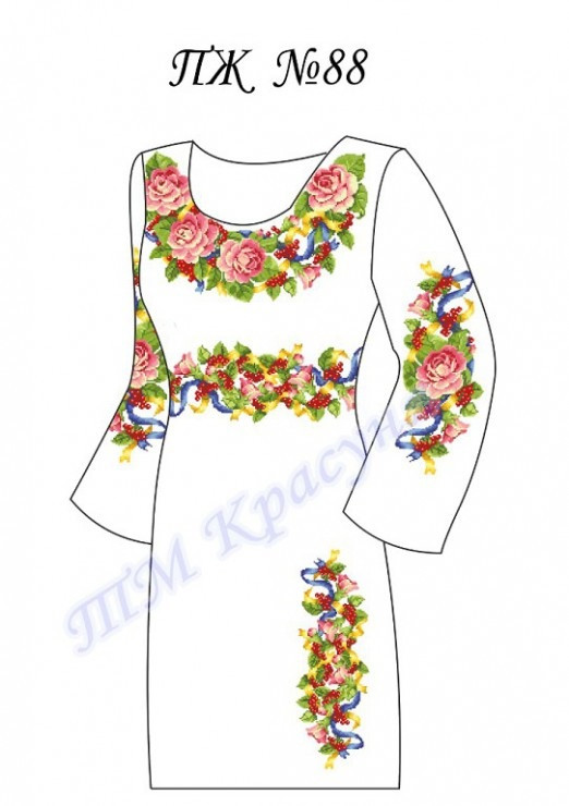Заготовка платья-вышиванки ПЖ-88
