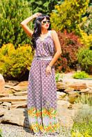 Женское платье макси микромасло + большой размер