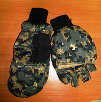 Перчатки зимние с капюшоном
