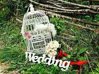Слово Wedding звготовка для декора