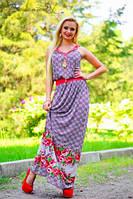 Женское очаровательное платье макси + большой размер