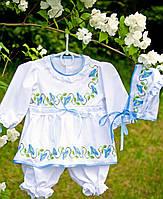 Ніжний святковий набір для дівчинки з голубими дзвіночками 1203556f88e78