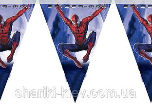 Баннер-Гирлянда Человек Паук на День рождения в стиле Человек Паук