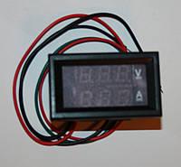 Вольтметр амперметр 0-100В(красный) 10А(синий) с двумя строками TK1382