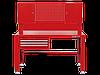 Верстак слесарный 3 полки+2 двери KINGTONY 87502