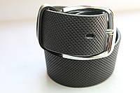 Ремень кожаный 'Universal' 40 мм черный в сеточку 'Nova-belt'