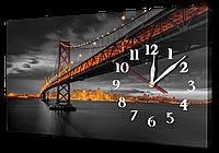 Часы на холсте 30 х 53 см 11