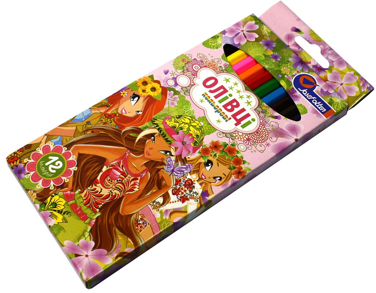 Карандаши цветные Josef Otten 12 цветов Українські дівчата