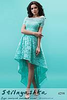 Вечернее платье Каскад ментол