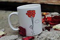 """Красивая офисная чашка """"На крыльях любви"""""""