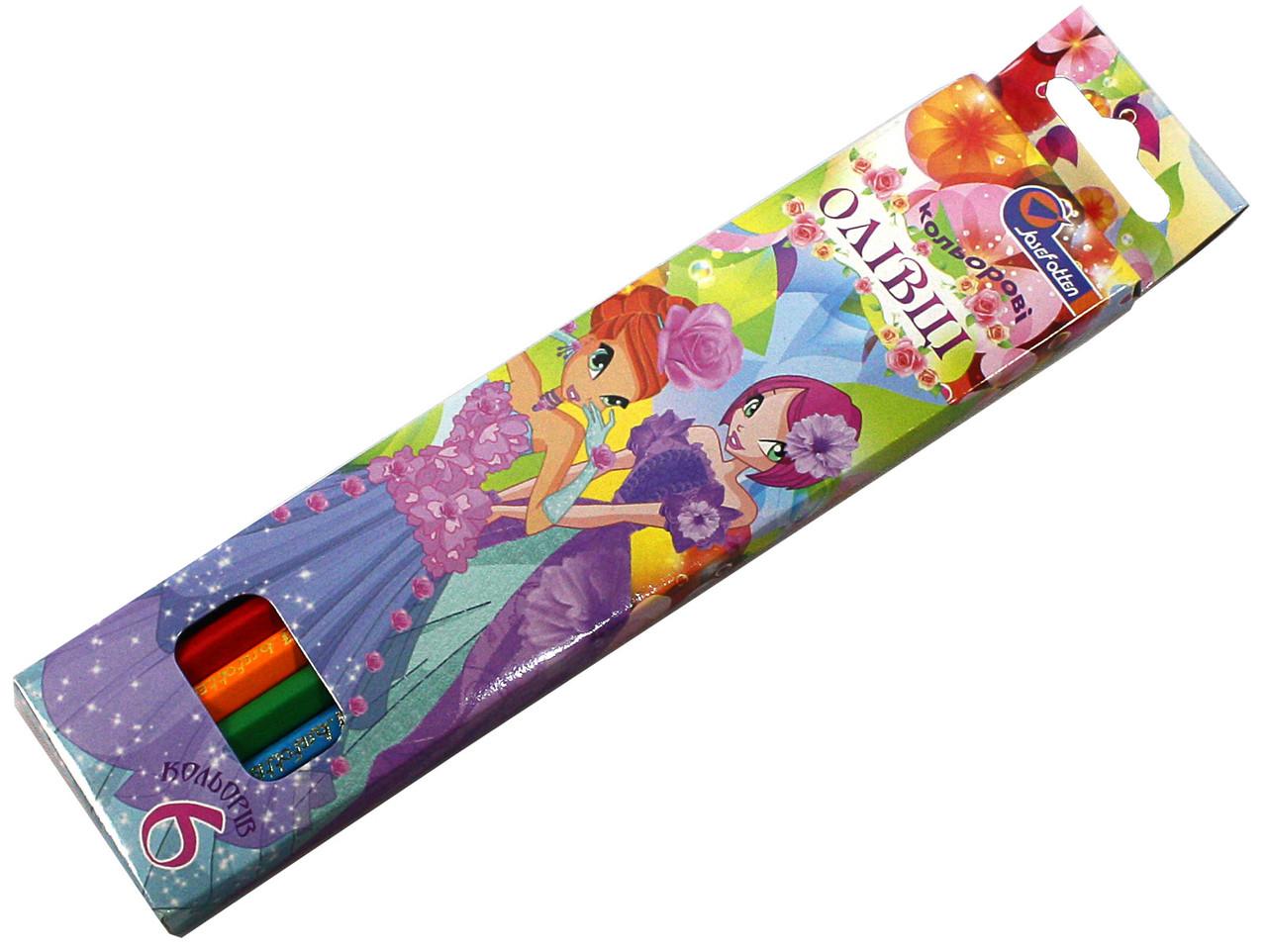 Карандаши цветные Josef Otten 6 цветов Принцессы