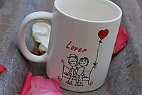 """Отличная чашка """"Скамейка для влюблённых"""""""