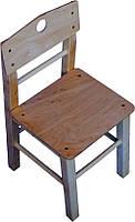 Детский стульчик из дерева 30 см для детского сада ТМ КИНД